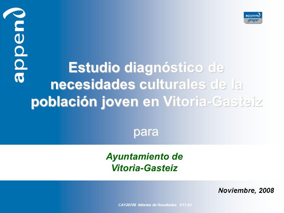 Ayuntamiento de Vitoria-Gasteiz CA120708 Informe de Resultados D17-02