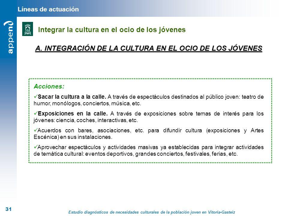 A. INTEGRACIÓN DE LA CULTURA EN EL OCIO DE LOS JÓVENES