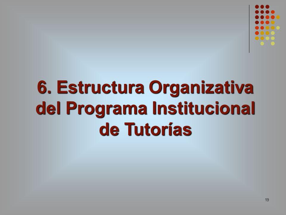 6. Estructura Organizativa del Programa Institucional de Tutorías