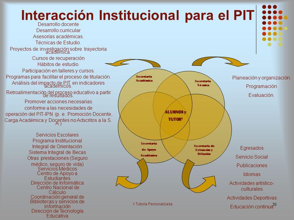 Interacción Institucional para el PIT