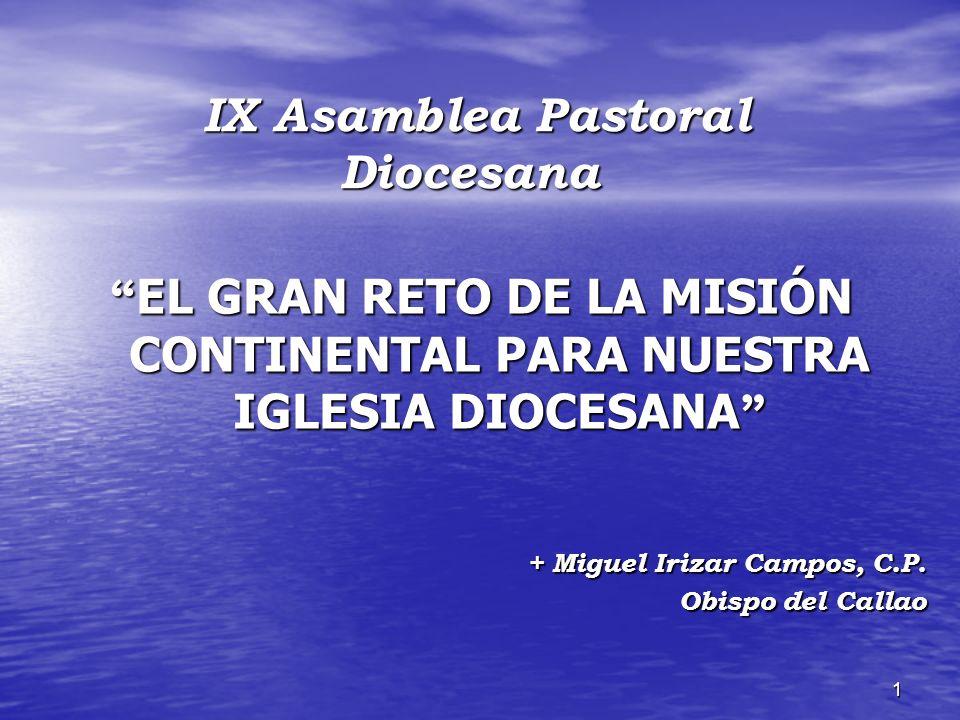 EL GRAN RETO DE LA MISIÓN CONTINENTAL PARA NUESTRA IGLESIA DIOCESANA