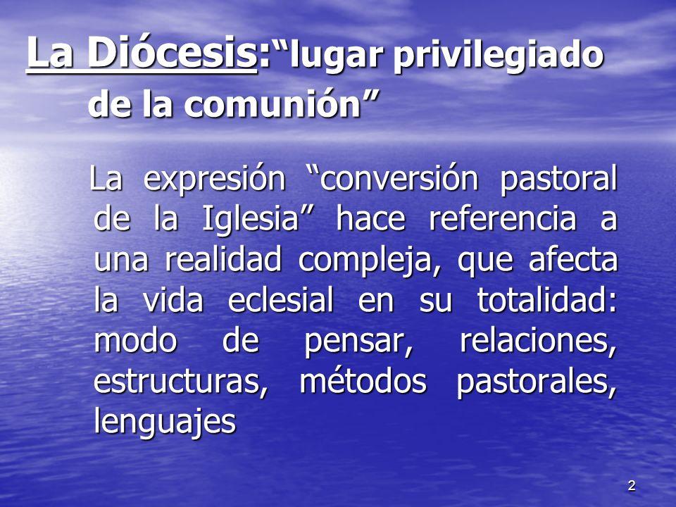La Diócesis: lugar privilegiado de la comunión