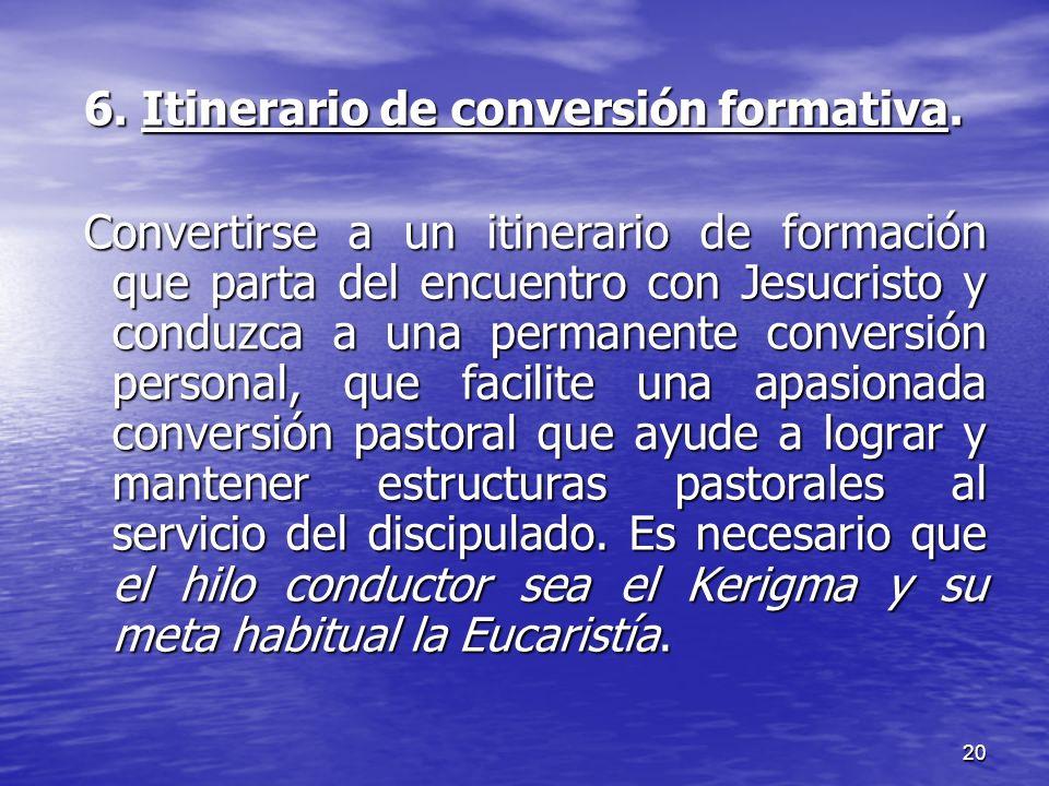 6. Itinerario de conversión formativa.