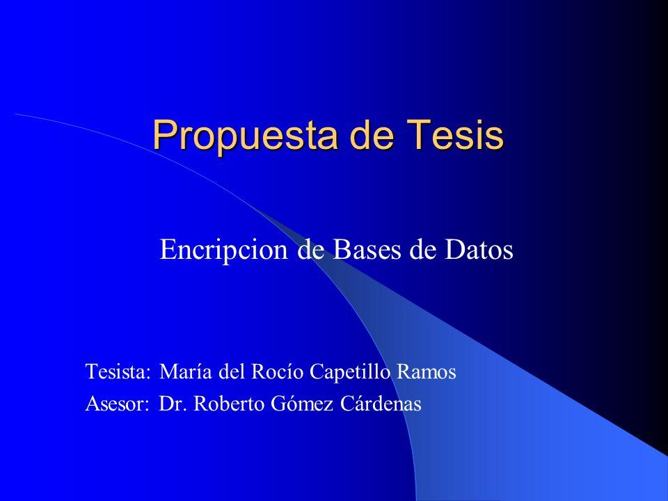 Encripcion de Bases de Datos