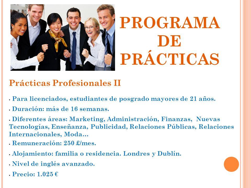 PROGRAMA DE PRÁCTICAS Prácticas Profesionales II