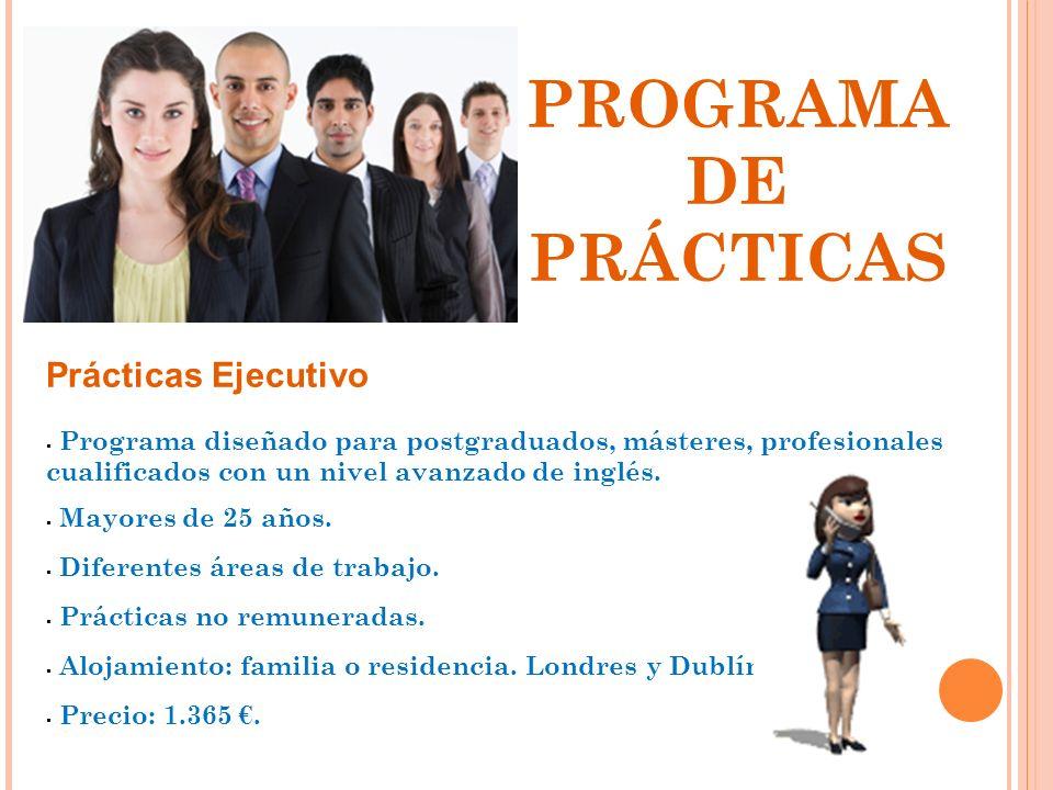 PROGRAMA DE PRÁCTICAS Prácticas Ejecutivo