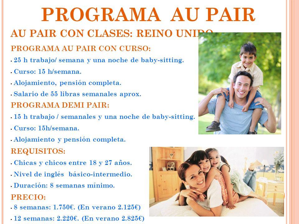 PROGRAMA AU PAIR AU PAIR CON CLASES: REINO UNIDO