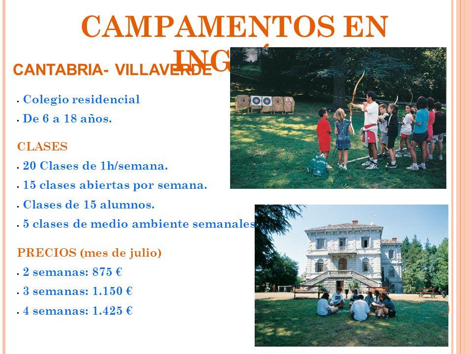 CAMPAMENTOS EN INGLÉS CANTABRIA- VILLAVERDE Colegio residencial
