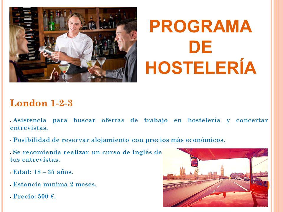 PROGRAMA DE HOSTELERÍA