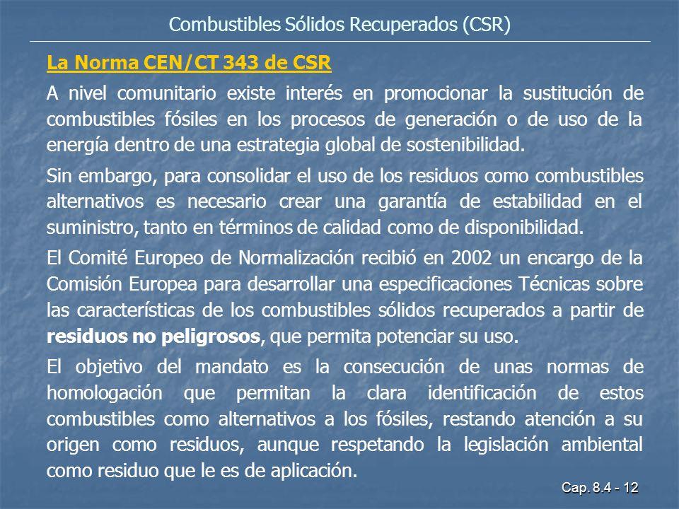 Combustibles Sólidos Recuperados (CSR)