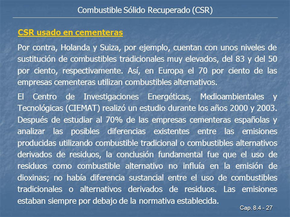 Combustible Sólido Recuperado (CSR)