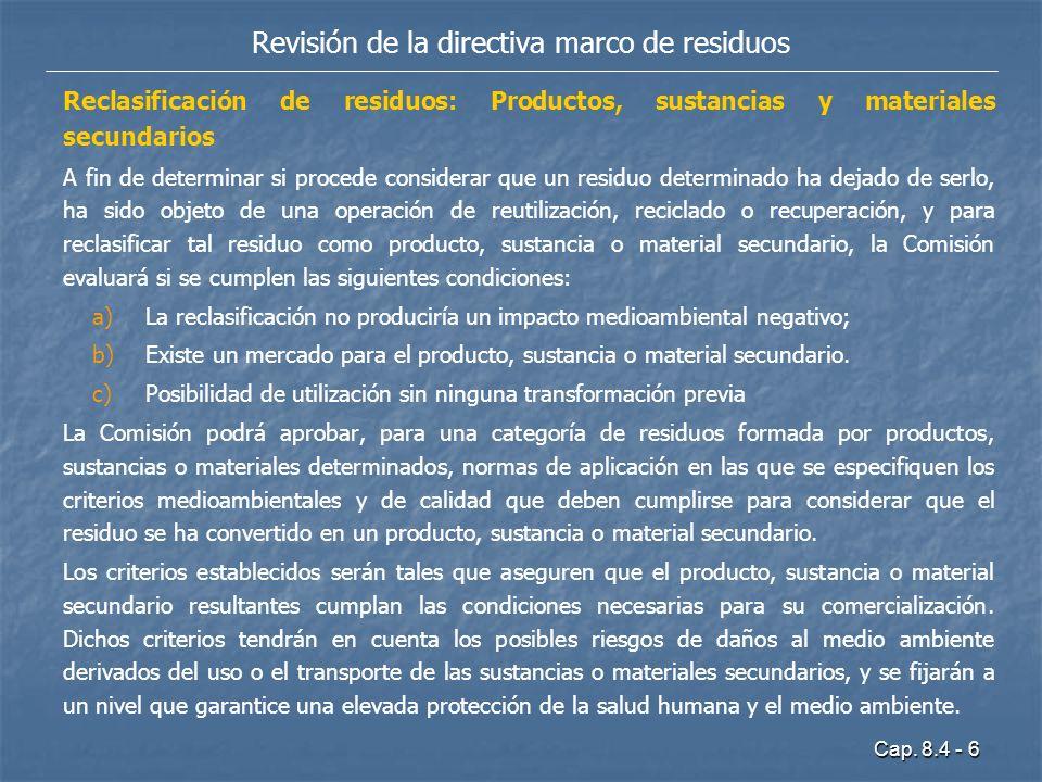 Revisión de la directiva marco de residuos