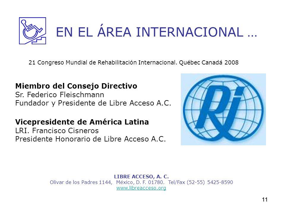 EN EL ÁREA INTERNACIONAL …