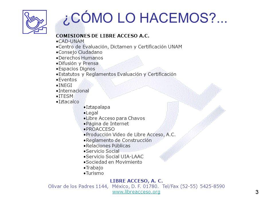¿CÓMO LO HACEMOS ... 3 COMISIONES DE LIBRE ACCESO A.C. •CAD-UNAM