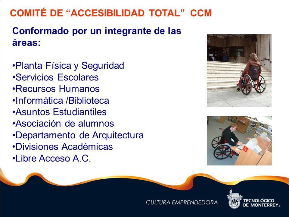 Comit de accesibilidad total ccm ppt descargar for Servicios escolares arquitectura