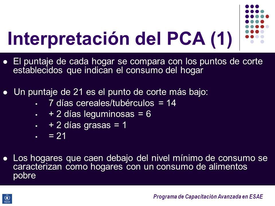 Interpretación del PCA (1)