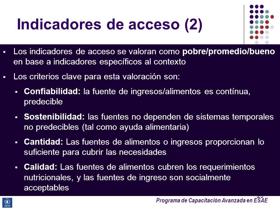Indicadores de acceso (2)