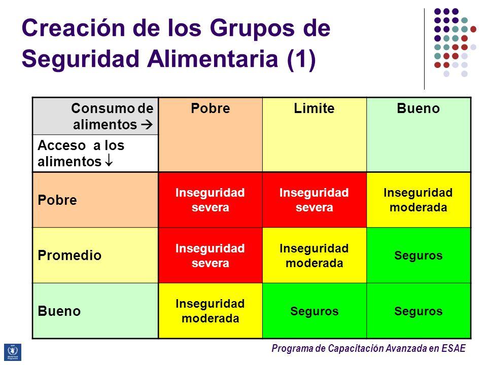 Creación de los Grupos de Seguridad Alimentaria (1)