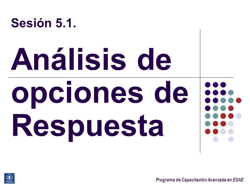 Sesión 5.1. Análisis de opciones de Respuesta