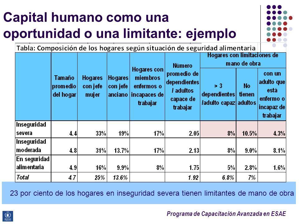 Capital humano como una oportunidad o una limitante: ejemplo