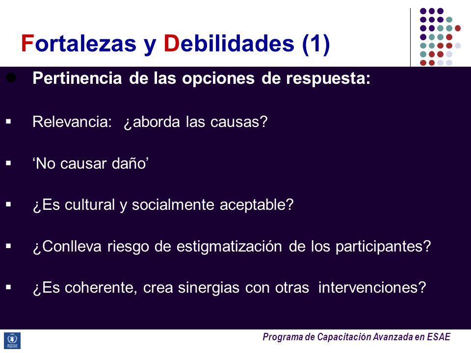 Fortalezas y Debilidades (1)