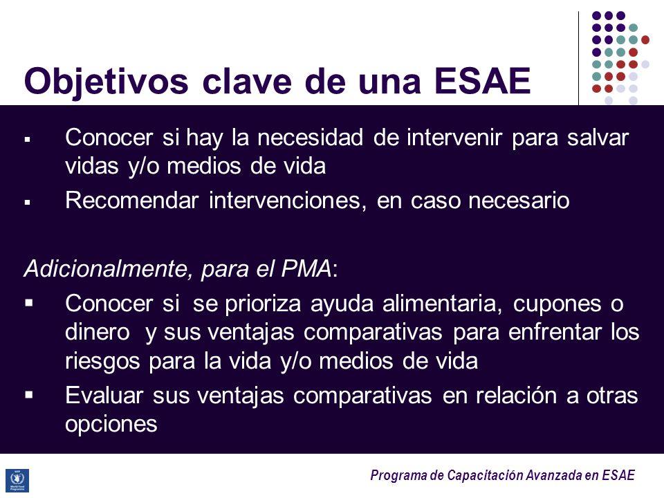 Objetivos clave de una ESAE