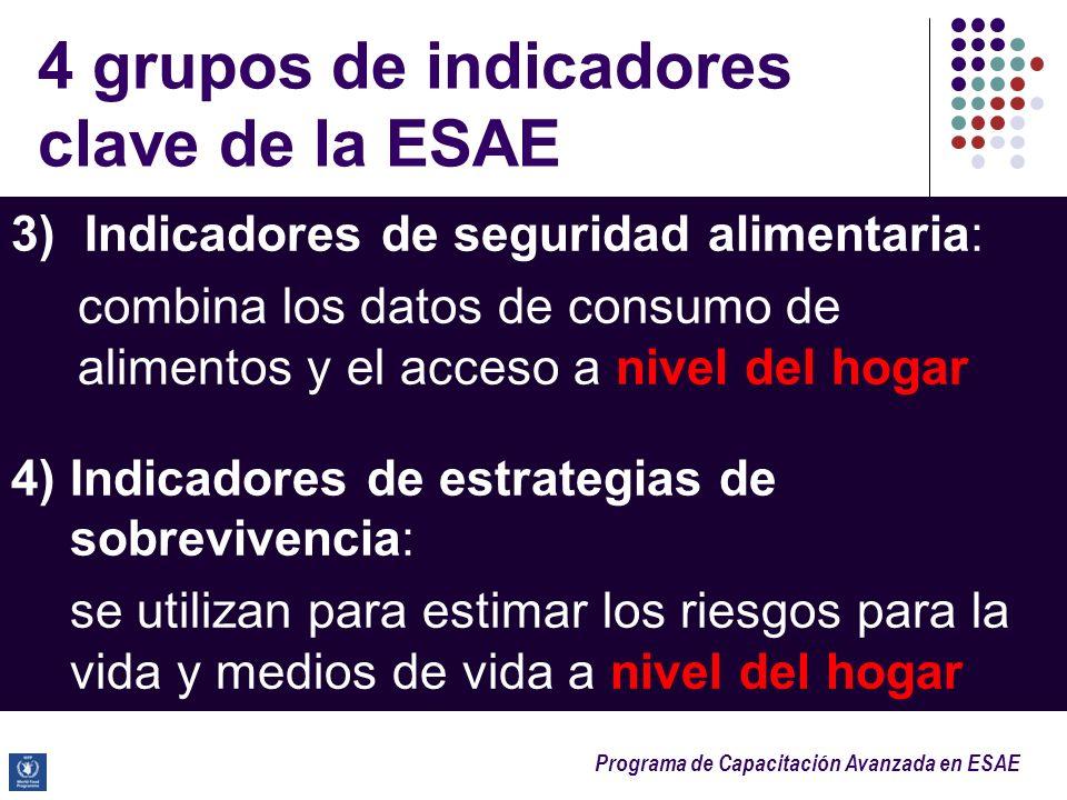 4 grupos de indicadores clave de la ESAE