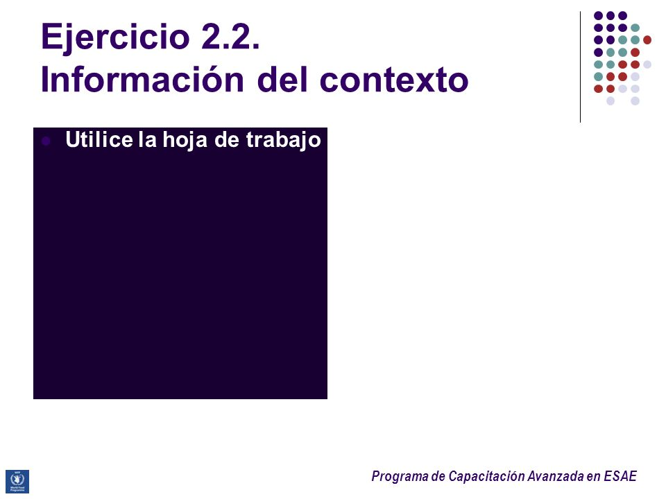 Ejercicio 2.2. Información del contexto
