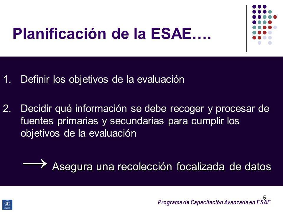 Planificación de la ESAE….