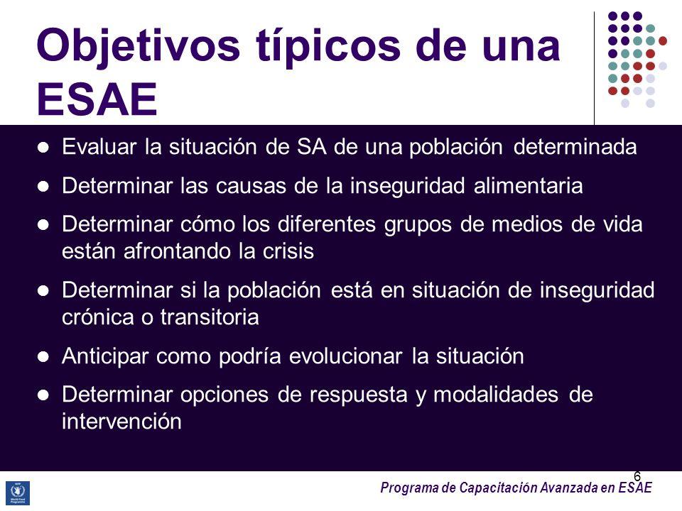 Objetivos típicos de una ESAE