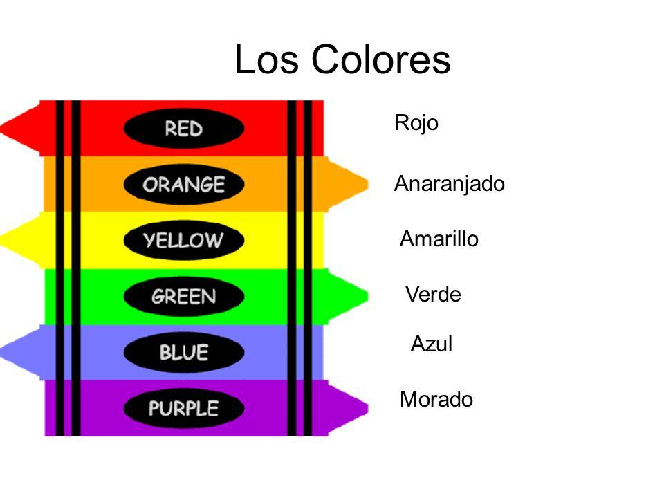 Los Colores Rojo Anaranjado Amarillo Verde Azul Morado