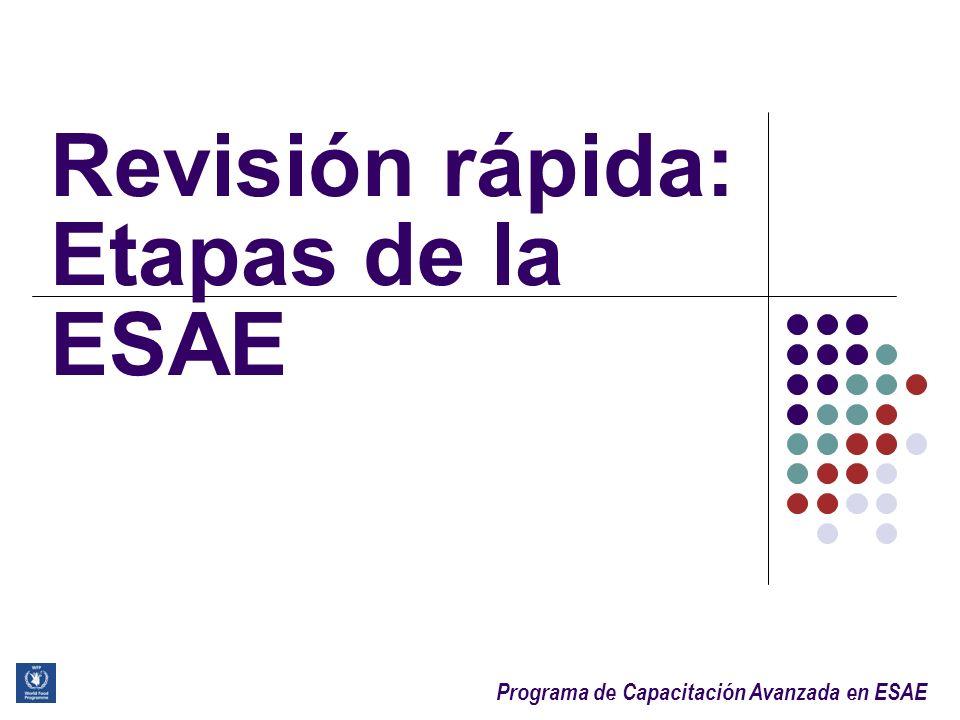 Revisión rápida: Etapas de la ESAE