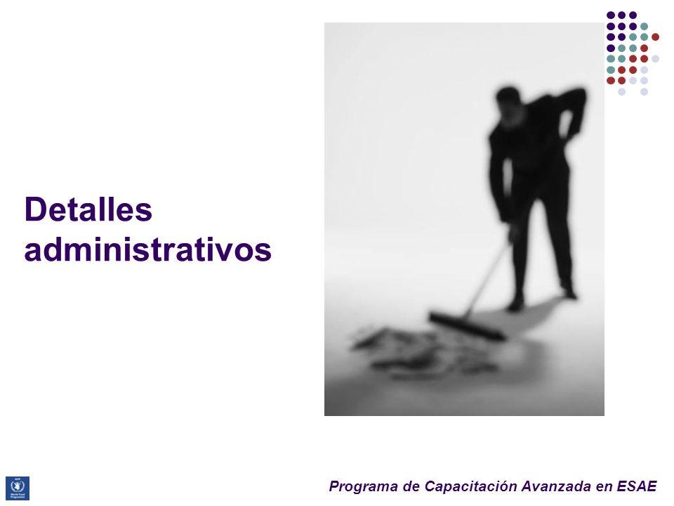 Detalles administrativos