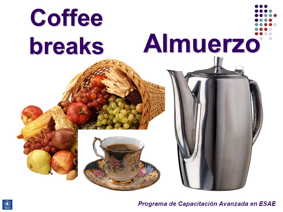 Almuerzo Coffee breaks