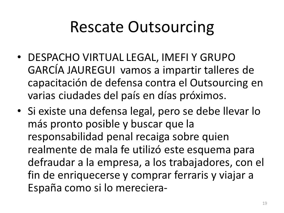 Rescate Outsourcing