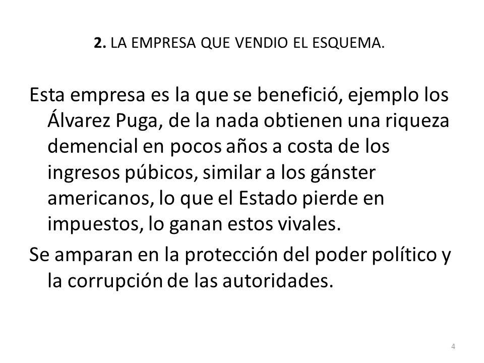 2. LA EMPRESA QUE VENDIO EL ESQUEMA.