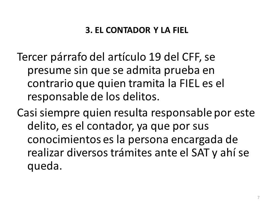 3. EL CONTADOR Y LA FIEL