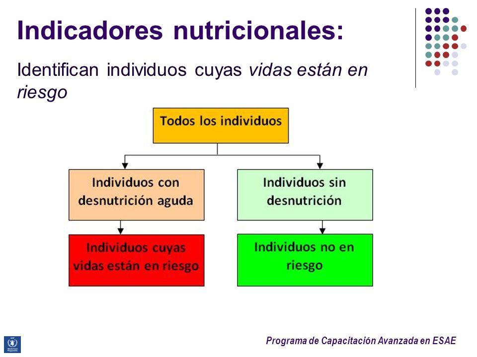 Indicadores nutricionales: