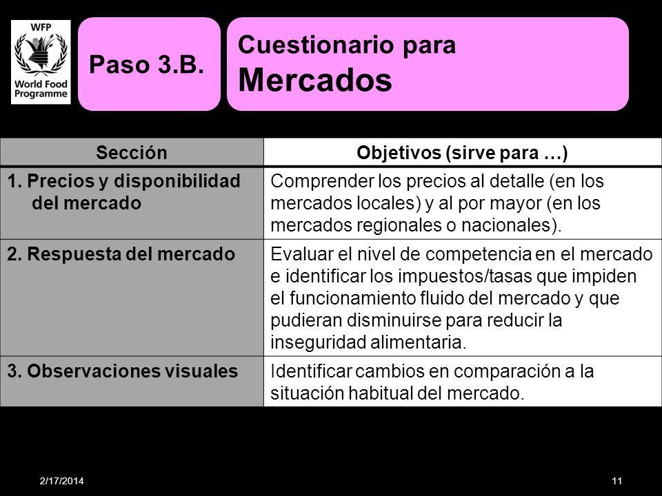 Objetivos (sirve para …)
