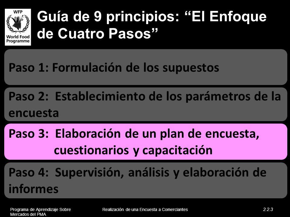 Guía de 9 principios: El Enfoque de Cuatro Pasos
