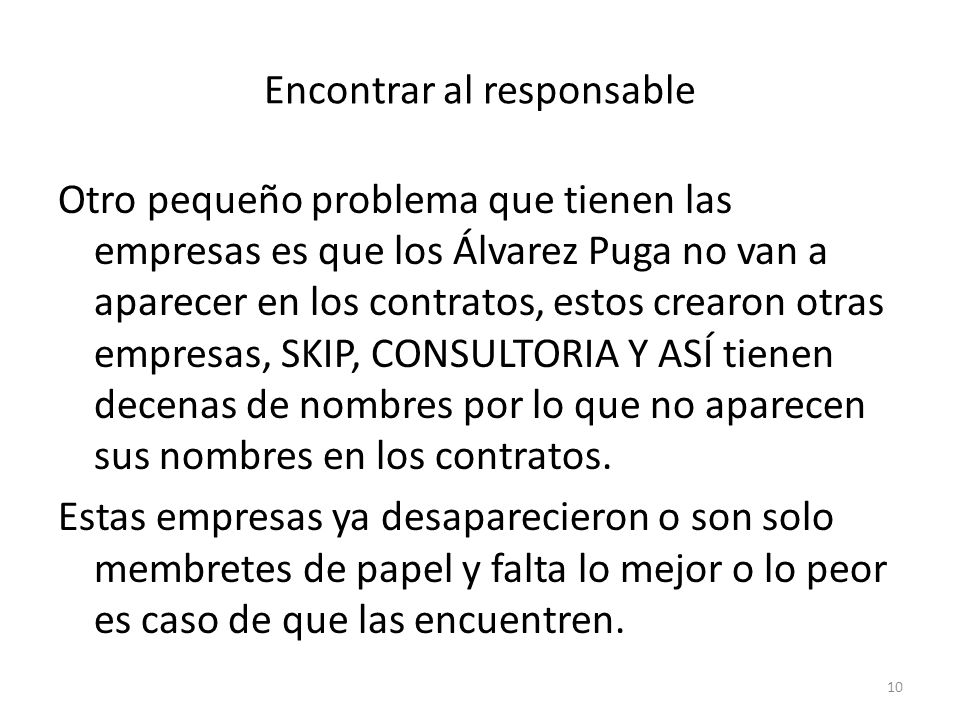 Encontrar al responsable