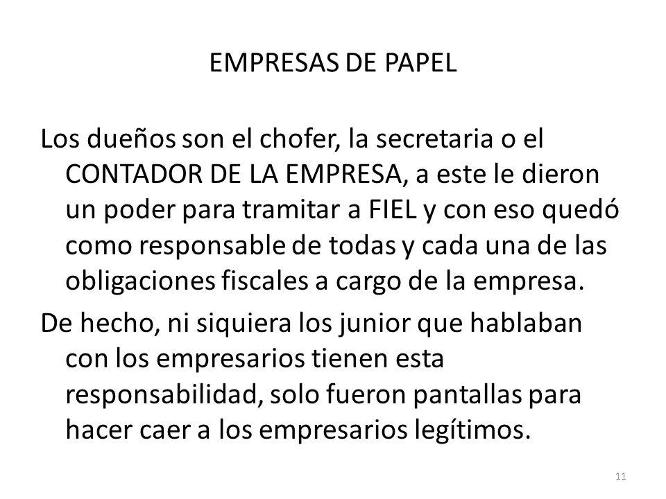 EMPRESAS DE PAPEL