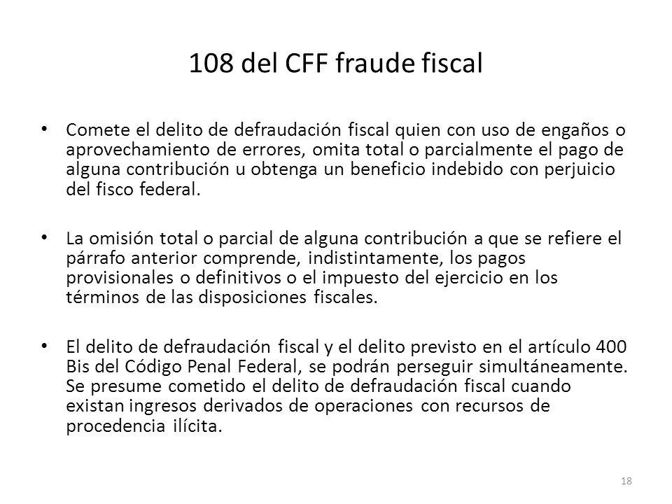 108 del CFF fraude fiscal