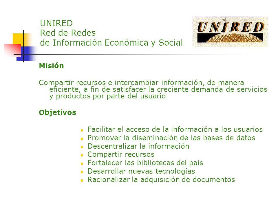 UNIRED Red de Redes de Información Económica y Social
