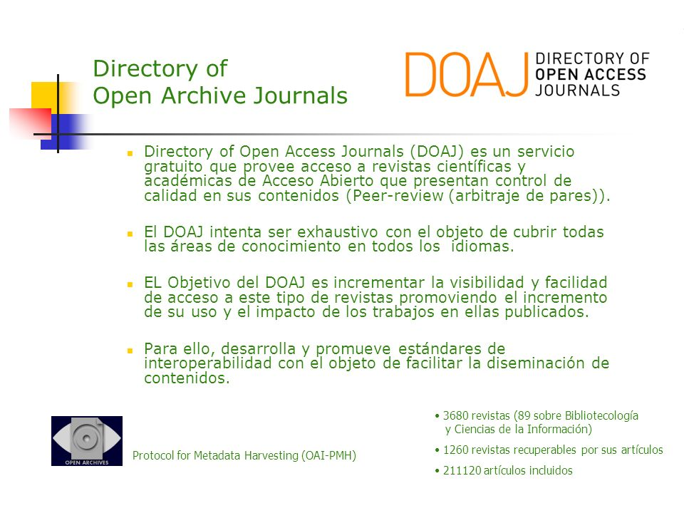 Directory of Open Archive Journals