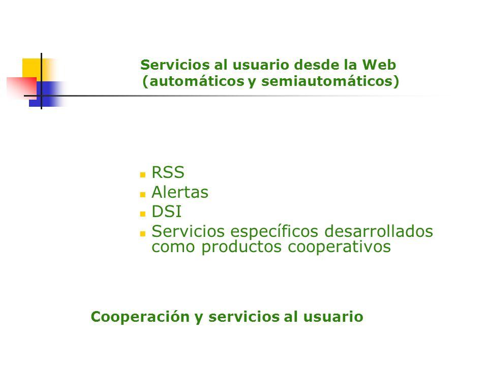 Servicios al usuario desde la Web