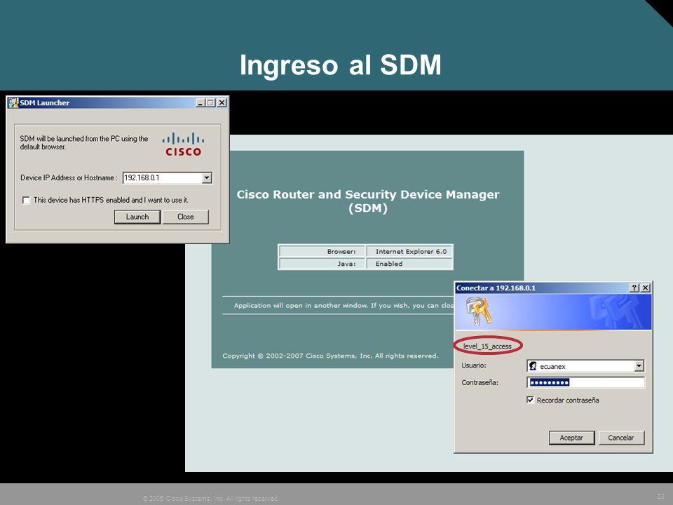 Ingreso al SDM