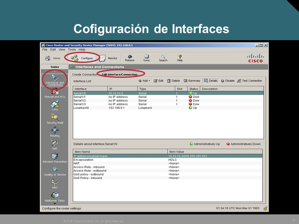 Cofiguración de Interfaces