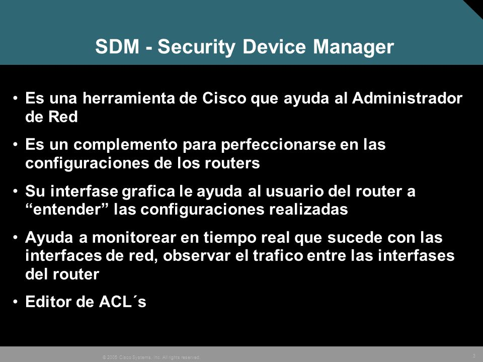 SDM - Security Device Manager