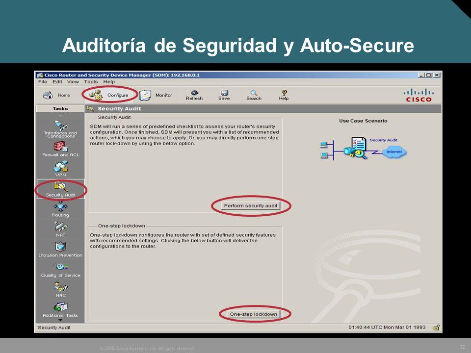 Auditoría de Seguridad y Auto-Secure